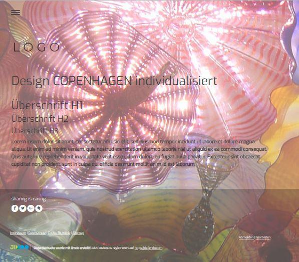 Jimdo Designvorlage COPENHAGEN
