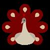 Icon Pfau rot