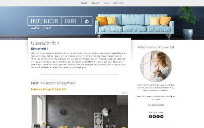 Jimdo Design-Vorlage Amsterdam V1