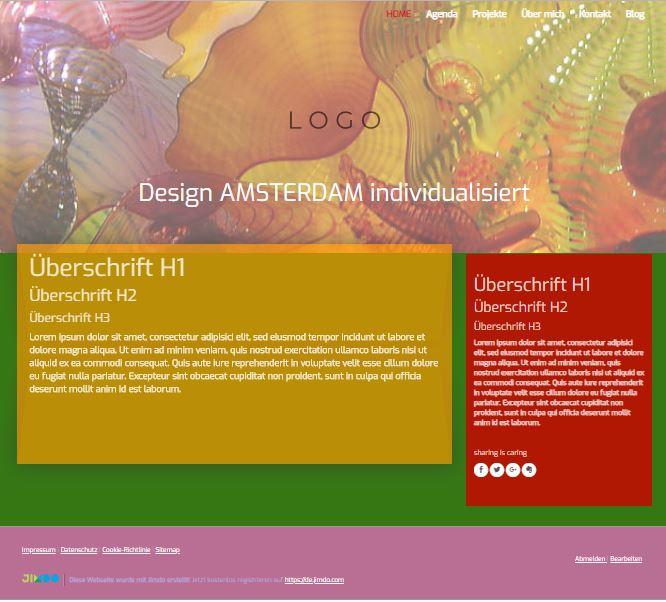 Jimdo Designvorlage AMSTERDAM