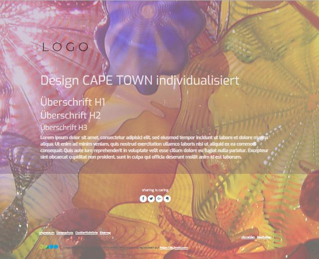Jimdo Designvorlage CAPE TOWN