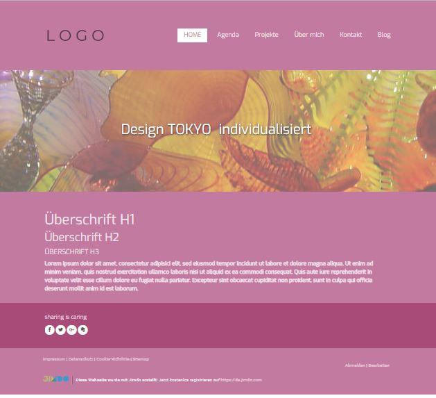 Jimdo Designvorlage TOKYO
