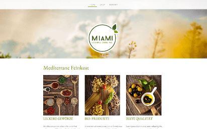 Jimdo Design-Vorlage Miami V4