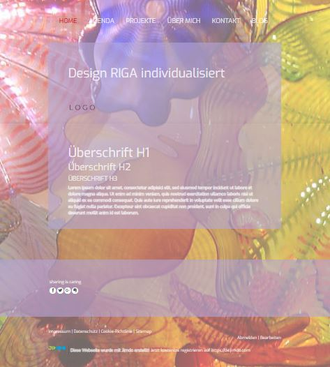 Jimdo Designvorlage RIGA
