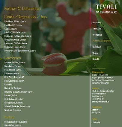 """Beispiel Jimdo Creator Website für Restaurant (Vorlage""""Dublin"""")"""