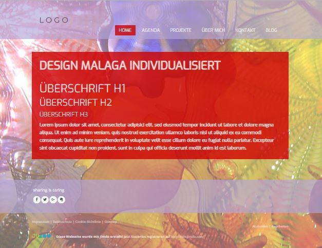 Jimdo Designvorlage MALAGA