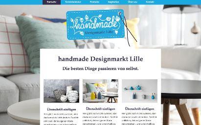 Jimdo Design-Vorlage Lille V1
