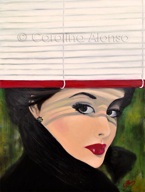 Joulosie - Carolina Alonso, Öl auf Leinwand