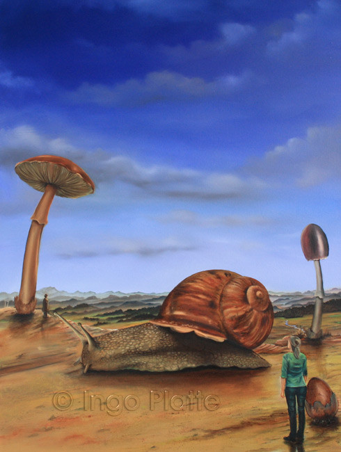 Die neue Welt II - Ingo Platte, Öl auf Leinwand