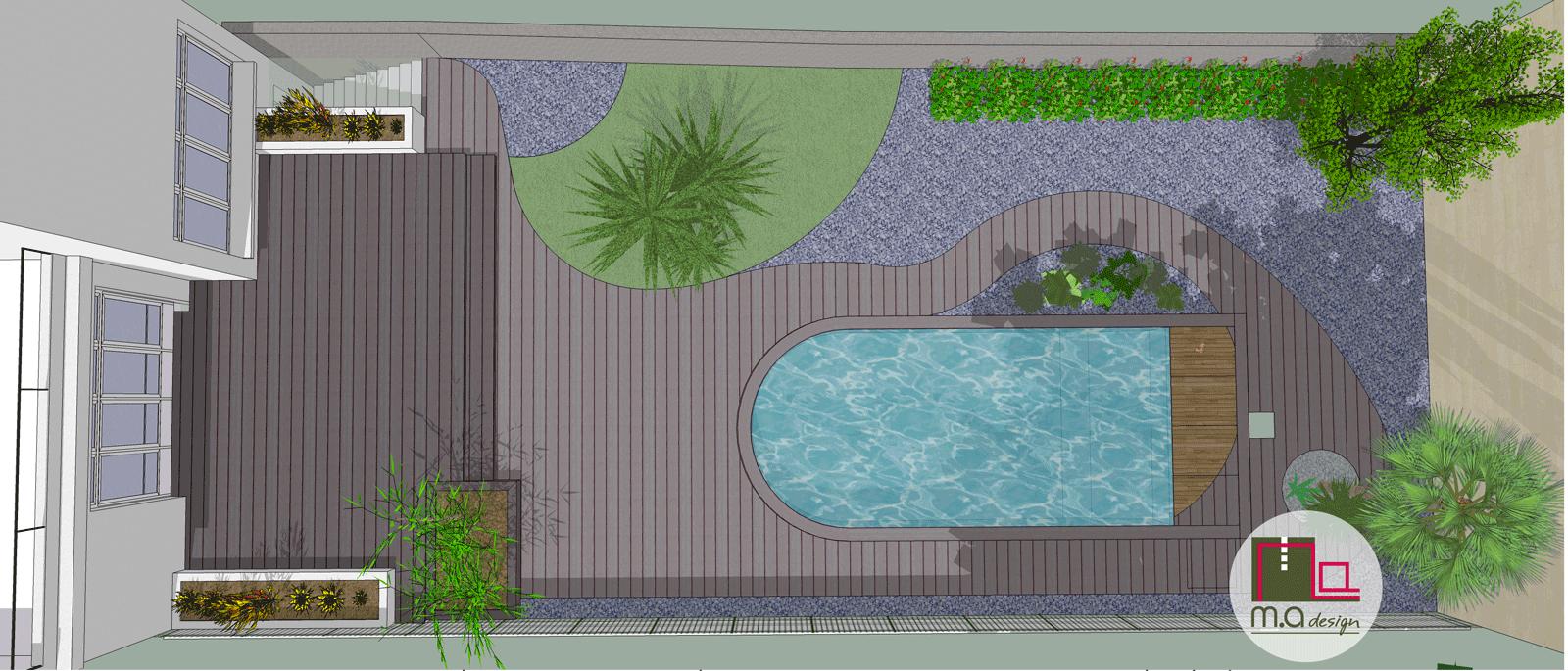 Projet de piscine en 3D