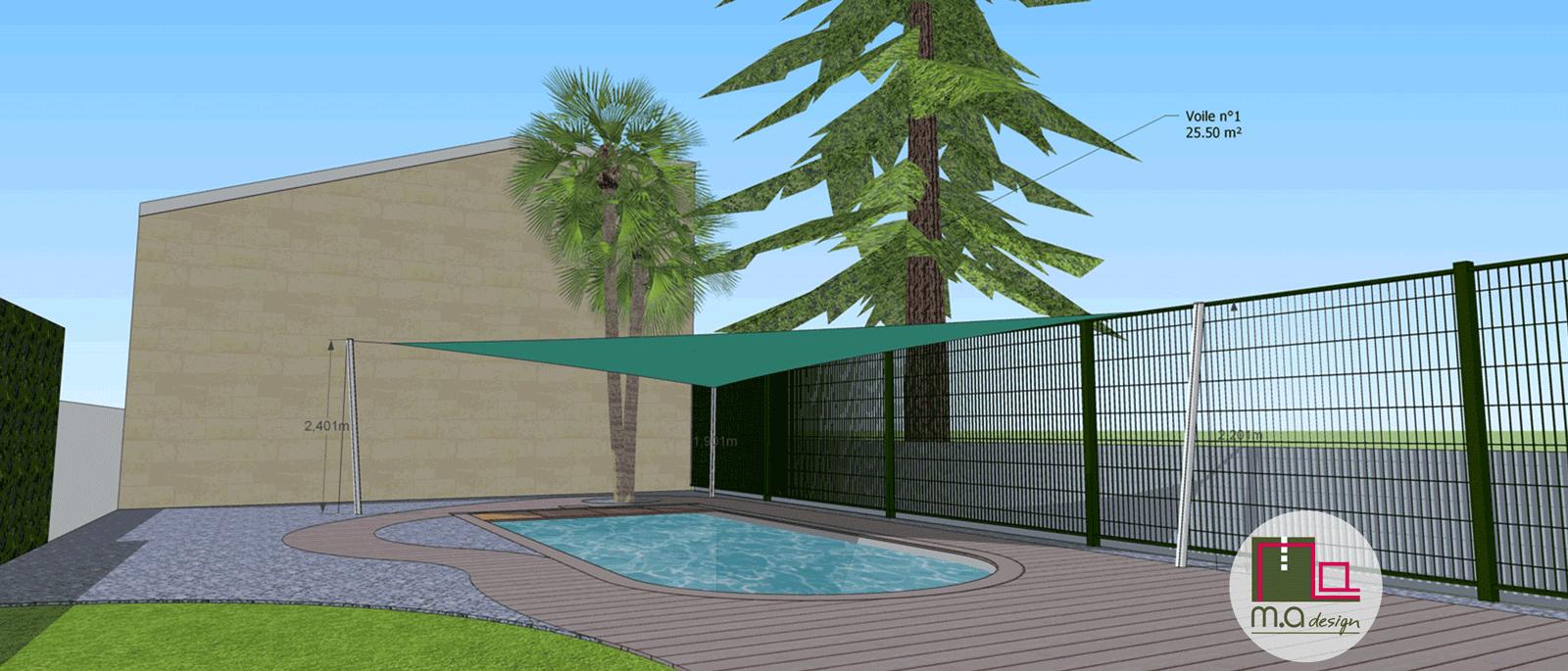 Projet voile d'ombrage 3D