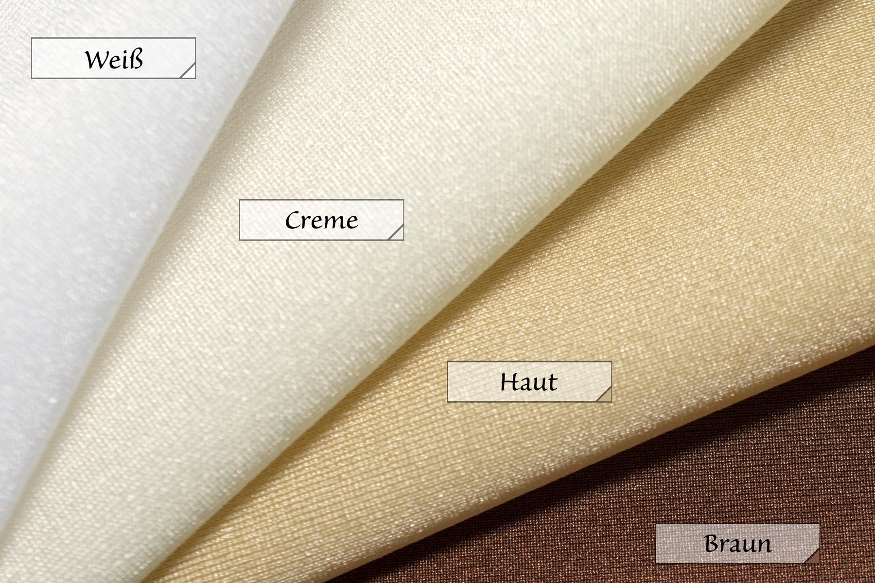 Stoff Jersey Weiß Creme Haut Braun 80% Polyamid 20% Elasthan