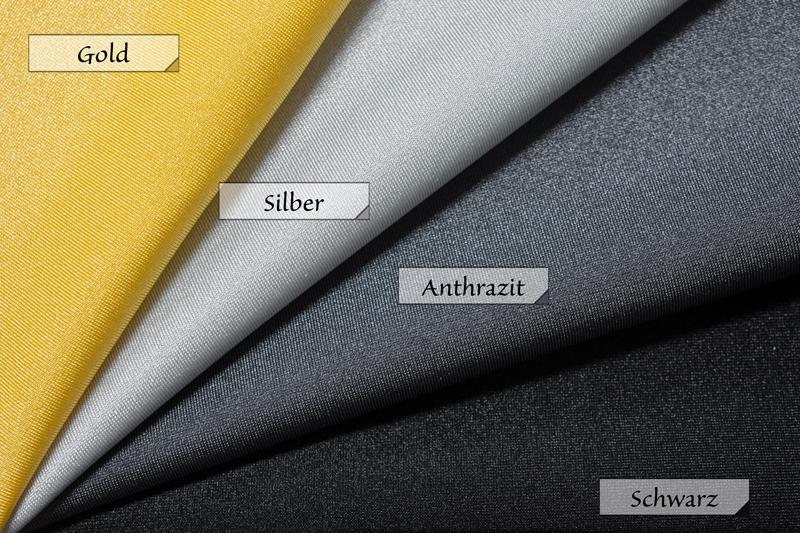 Stoff Jersey Gold Silber Anthrazit Schwarz 80% Polyamid 20% Elasthan