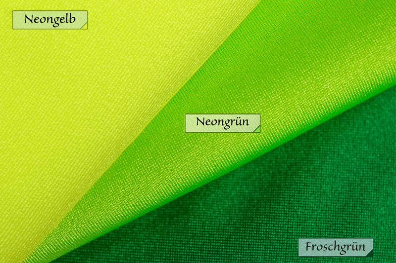 Stoff Jersey Neongelb Neongrün Froschgrün 80% Polyamid 20% Elasthan