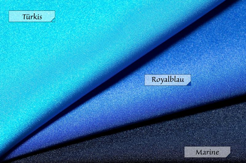 Stoff Jersey Türkis Royalblau Marine (Dunkelblau) 80% Polyamid 20% Elasthan