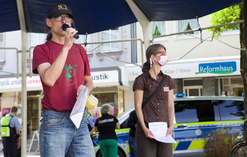 Jens Hansen eröffnet den Klima-Aktionstag