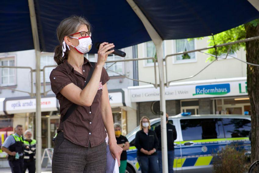Die erste Klima-Demo Eitorfs moderierte Carmen Ulmen