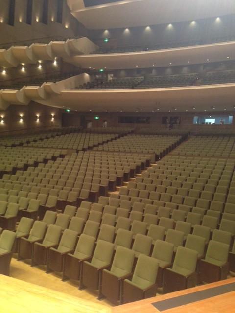 2013/7/26 香川・あなぶきホールの大ホールは本当に広かくて気持ちよかったです♪