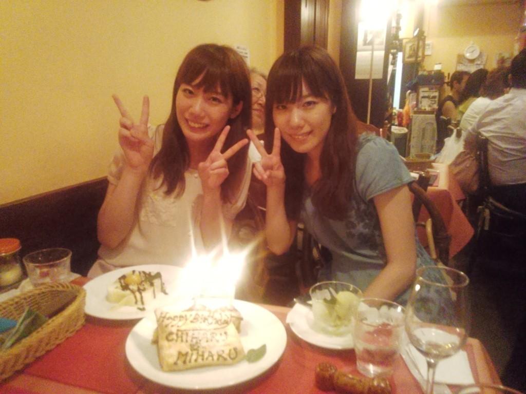 2013/8/9 大学の先生や友人が誕生日のお祝いを!!嬉しい!