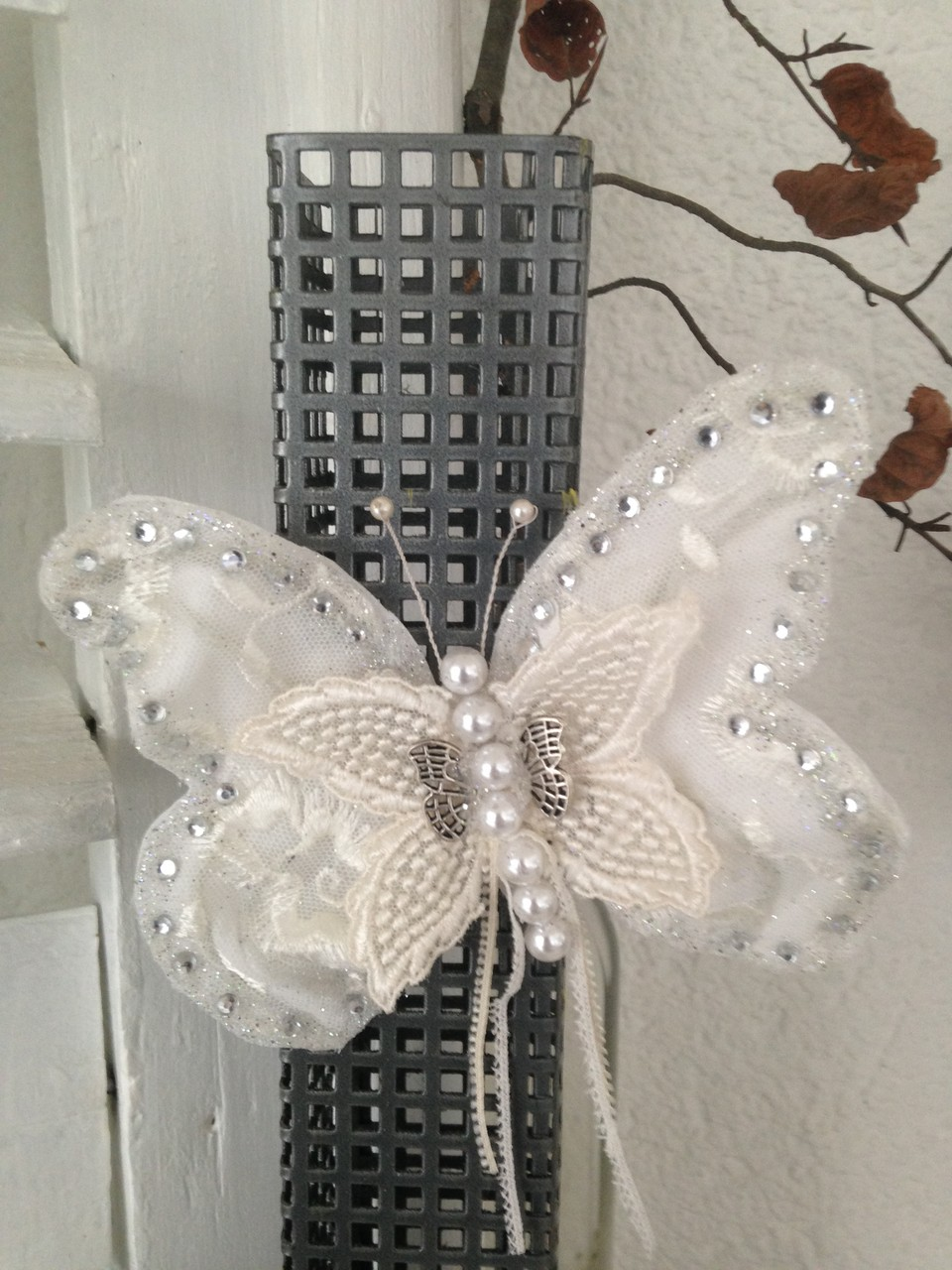 Schmetterling mit romantischen Spitzen