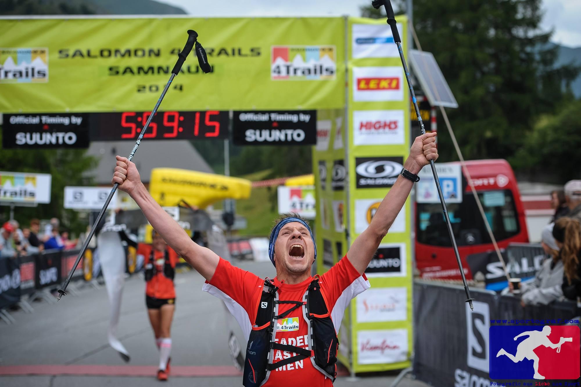 4 Trails - 160 km - 10000 Höhenmeter - Gesamtleader Master Men 2014