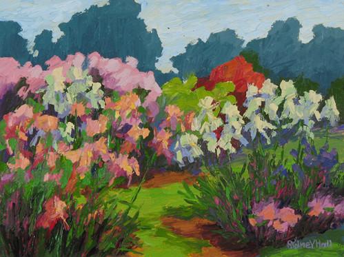 Iris Garden, 9x12, SOLD