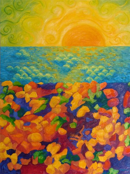 Sea Glass, 48x36, SOLD