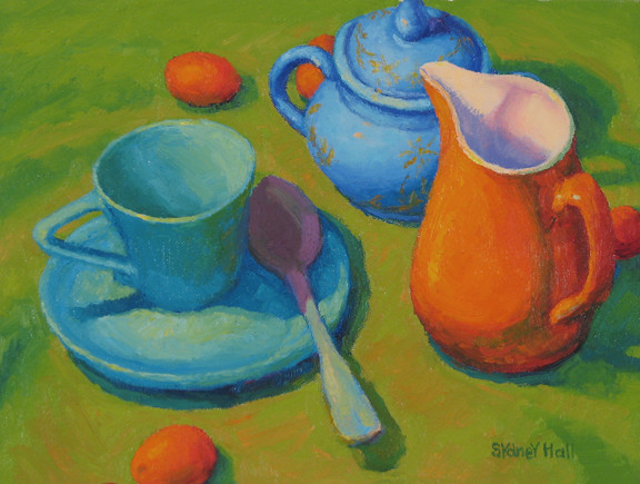 Spot of Tea, 9x12, SOLD