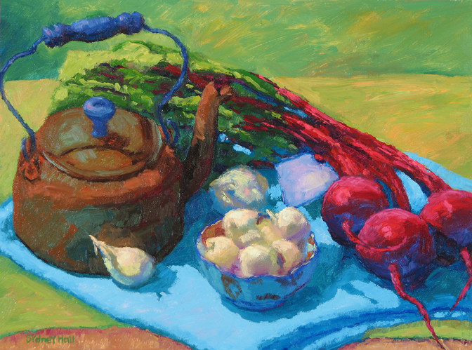 Beets With Copper Kettle, 12x16, SOLD