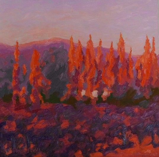 Autumn Fire, 12x12, SOLD