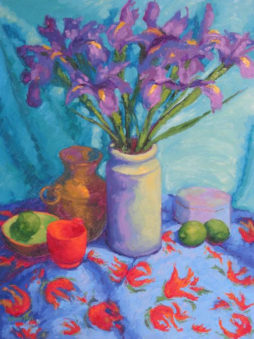 French Iris, 24x18, SOLD