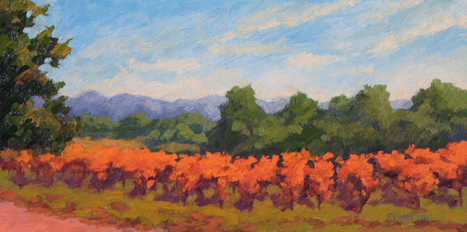 Salinas Valley Vines, 8x16, SOLD
