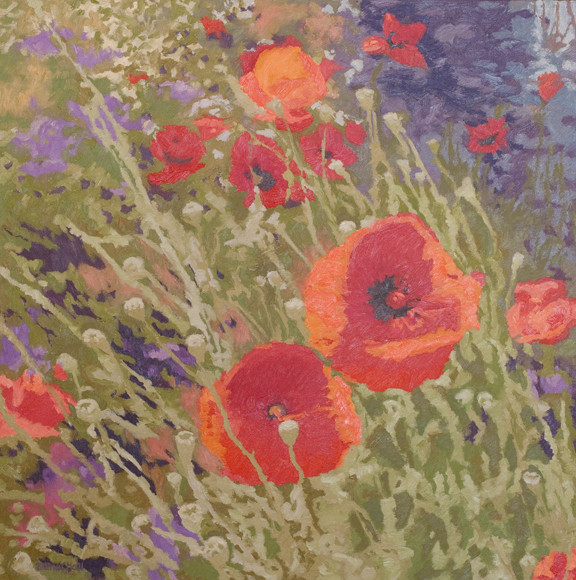 Poppies, 30x30, SOLD