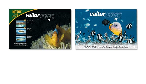 VALTUR DIVING, Italien. Anzeigenserie, verschiedene Formate für VALTUR weltweit