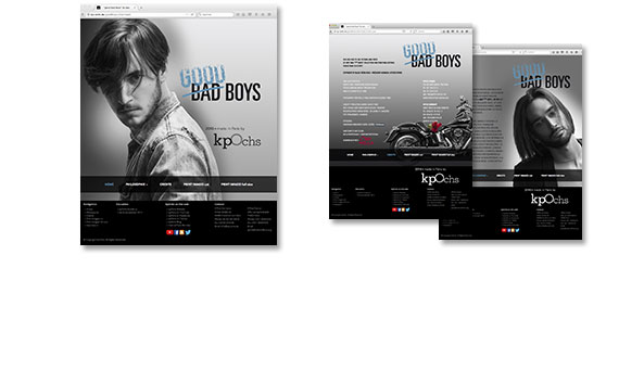 GOOD BAD BOYS, Website zur Kollektion, Kunde Klaus Peter Ochs, Frankfurt >> Gewinner der AIPP AWARDS 2015-2016 in the BEST MEN CATEGORY. Zugang nur mit Login-Daten