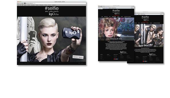 #SELFIE, Website zur Kollektion, Kunde Klaus Peter Ochs, Frankfurt. Zugang nur mit Login-Daten