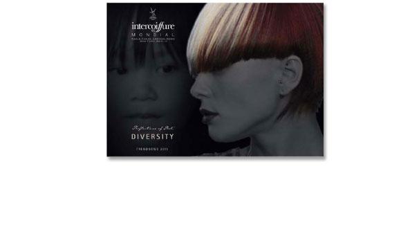 DIVERSITY, Titelmotiv Broschüre – Arbeitstitel 'Reflections of Bali', Kunde Intercoiffure Mondial, Paris. Aufwendige Bildmontage unter Anwendung verschiedener Farbmodi