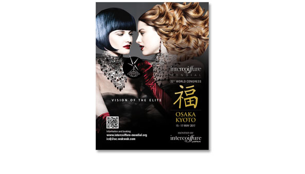 INTERCOIFFURE MONDIAL, Paris. Insertion in dem französischen Magazin TRIBUTE, Format 220 x 285 mm, 2-sprachig