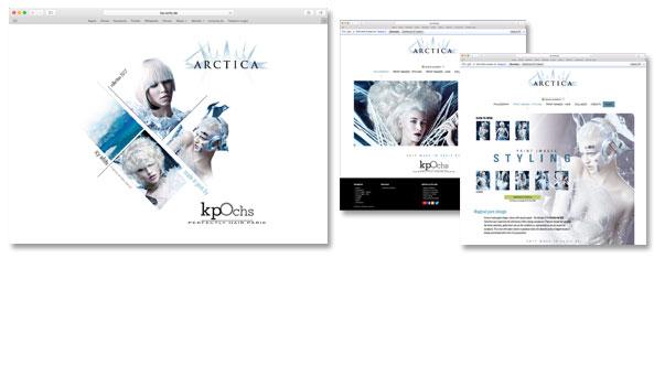 ARCTICA, Website zur Kollektion, Kunde Klaus Peter Ochs, Frankfurt. Zugang nur mit Login-Daten