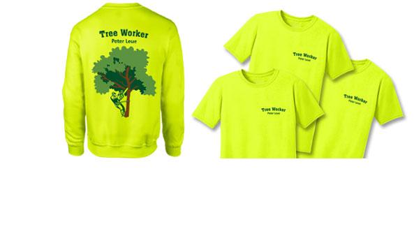 Kunde TreeWorker Peter Leue. Mitarbeiter-Ausstattung, Shirts/Sweater mit Druck