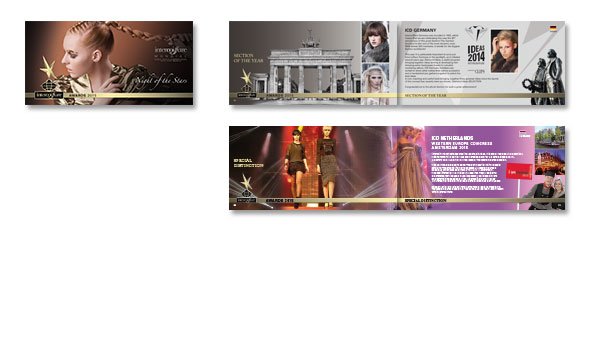 AWARDS 2015, Booklet, Kunde Intercoiffure Mondial, Paris. Dritte Auflage der handlichen und beliebten Broschüre.Inkl. Druckvorstufe.Format DIN A6 lang,Umfang 64 Seiten, englisch
