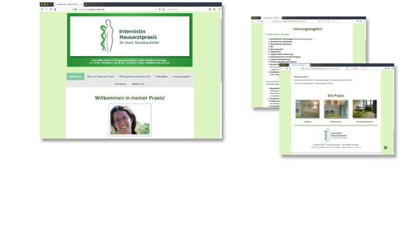 DR. MARTINAKELLER, Arztpraxis in Bietigheim-Bissingen. www.praxis-dr-keller.de. Weitere Projekte unter LOGOS.