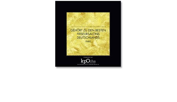QUALITÄTSSIEGEL, Kunde 'Klaus Peter Ochs', Frankfurt. Zur Auszeichnung von Friseursalons,deren Qualitätmit diesem Siegel gewürdigt wird