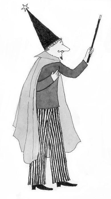 Lola Renn, Illustration, Zauberer, Magician, children's book