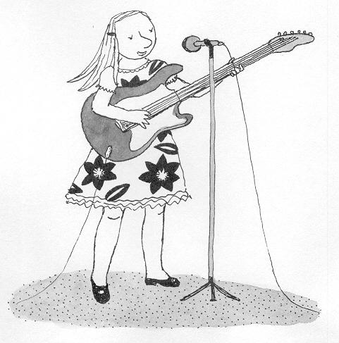 Lola Renn, Illustration, children's book, guitar