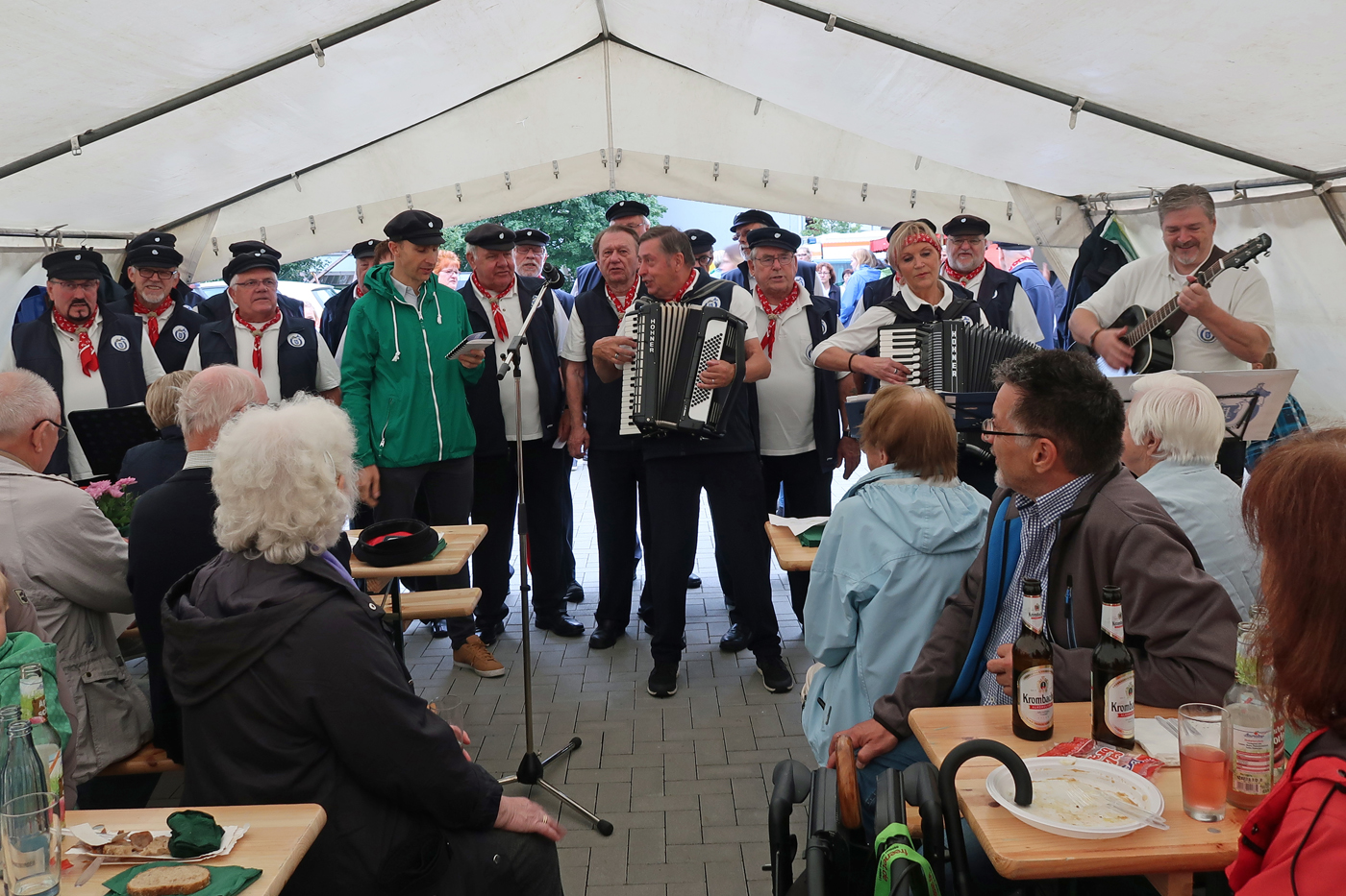 11.08.2017 - Grillfest in Stade Hahle. Dr. Christian Pape hat bei dem Lied.....