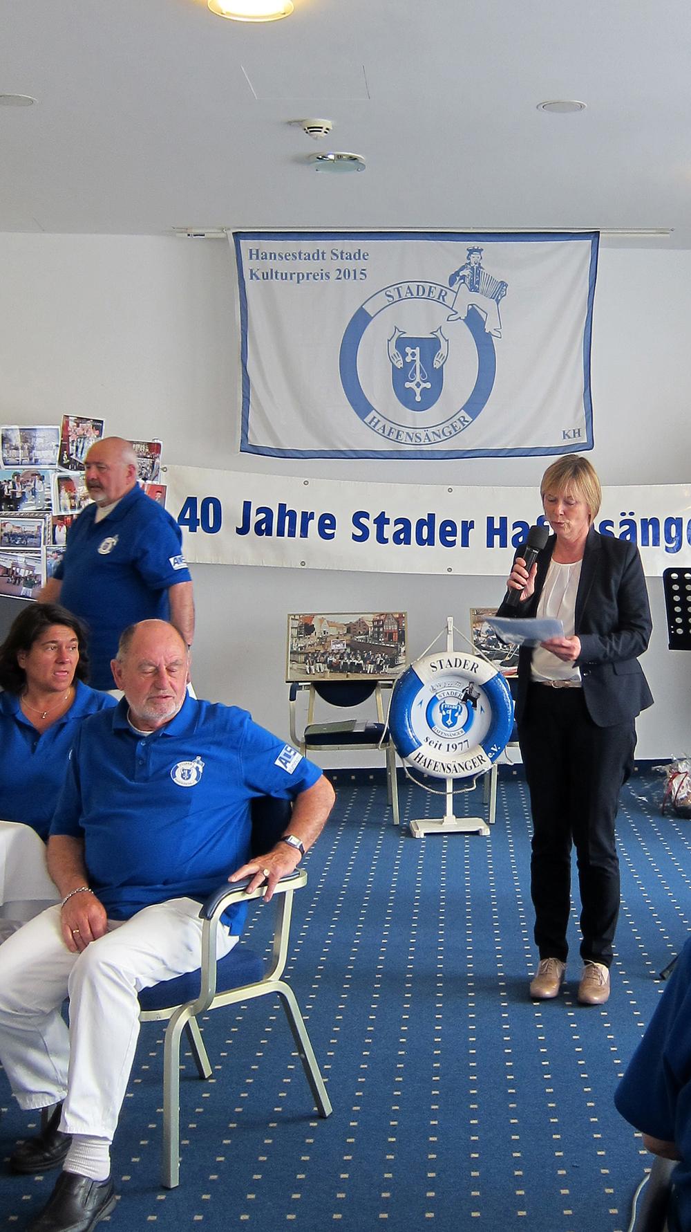 Glückwünsche bekamen wir von der Stader Bürgermeisterin Silvia Nieber...