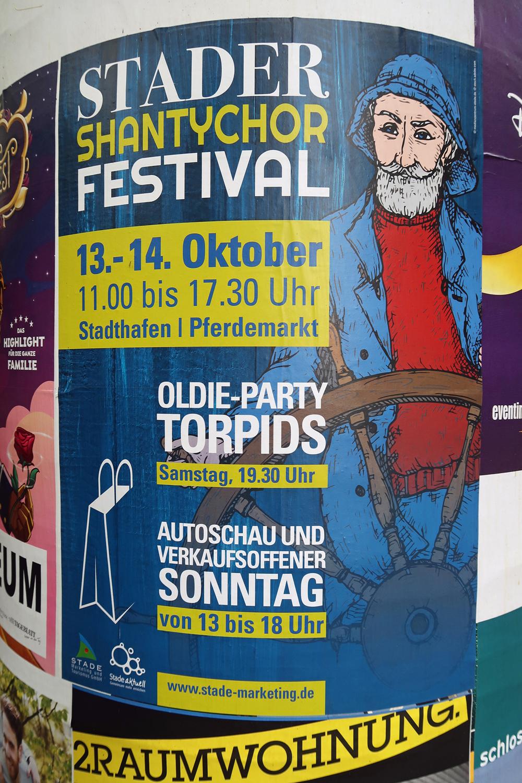 Plakat zum Shantychor Festival 2018