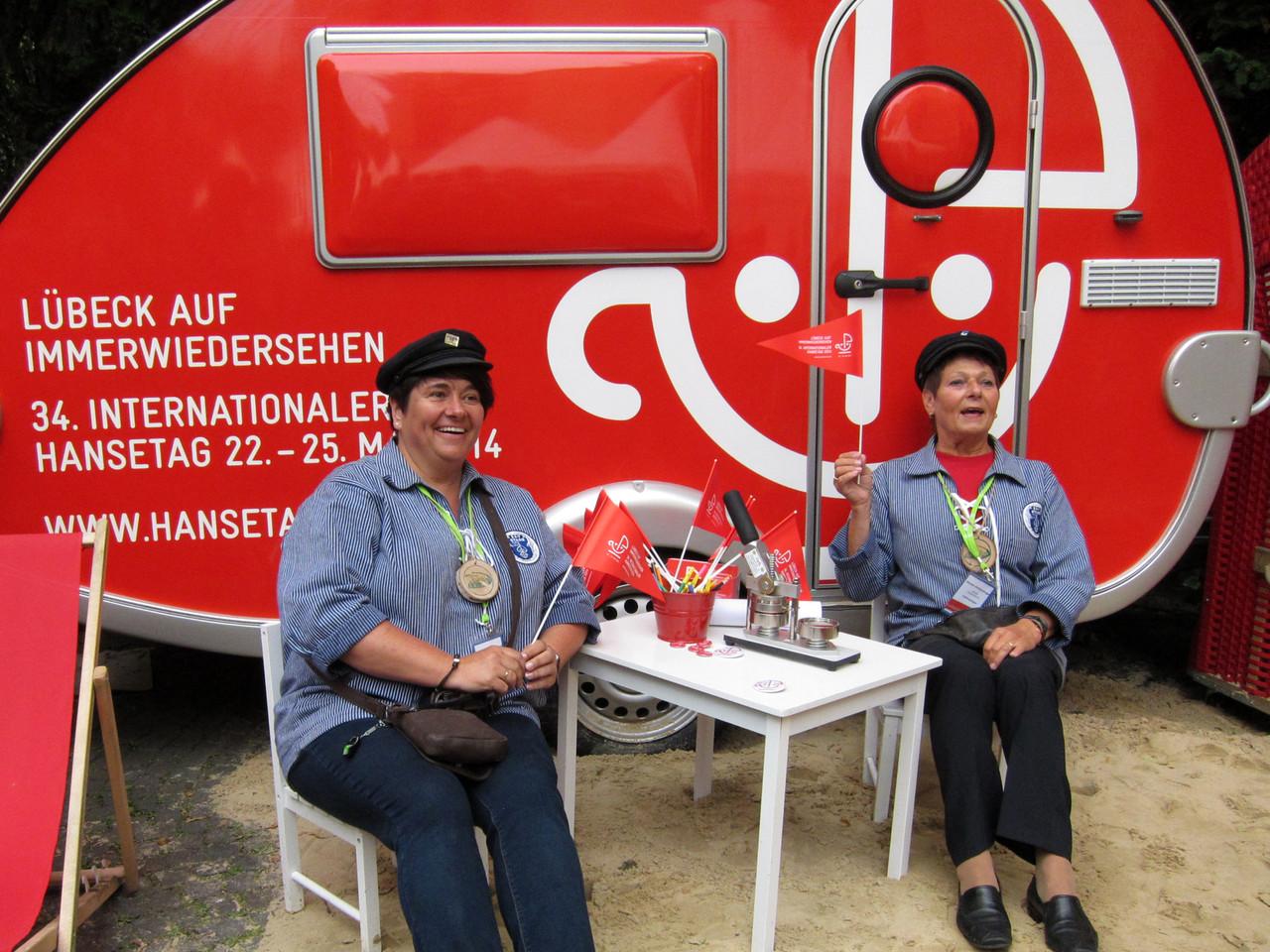 Hansestand Lübeck - Silke und Editha