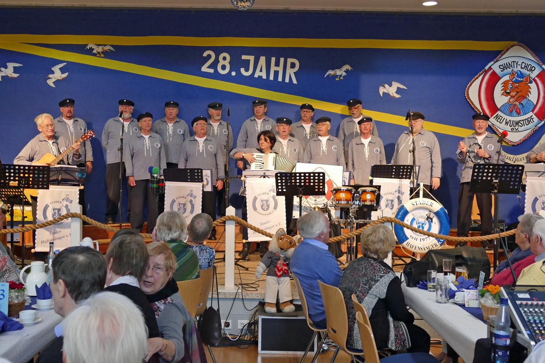 Stader Hafensänger waren mit 14 Sänger...      (Foto: De Windjammers)